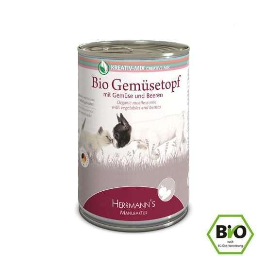 Herrmanns Bio Gemüsetopf veganes Ergänzungsfutter 400g Dose