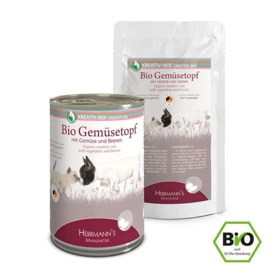Herrmanns Bio Gemüsetopf veganes Ergänzungsfutter 150g und 400g