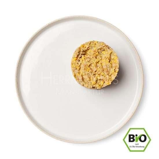 Herrmanns Bio Veggie mit weißer Süßlupine veganes Feuchtfutter Telleransicht