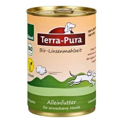 Terra-Pura Bio-Linsenmahlzeit veganes Hundefutter 350g