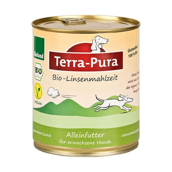 Terra-Pura Bio-Linsenmahlzeit veganes Hundefutter 6x750g