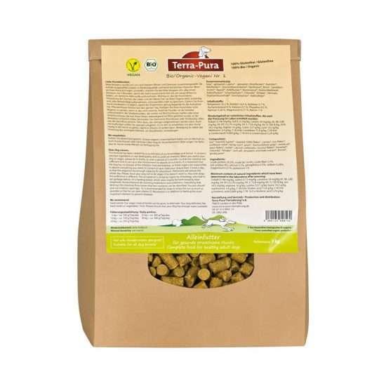Terra-Pura Bio Vegani Nr. 1 veganes Trockenfutter 1kg