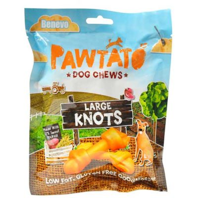 Benevo Pawtato Knots Large vegane Kausnacks | veganpaws