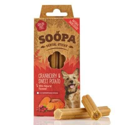 Soopa Cranberry & Süßkartoffel Kaustangen | veganpaws