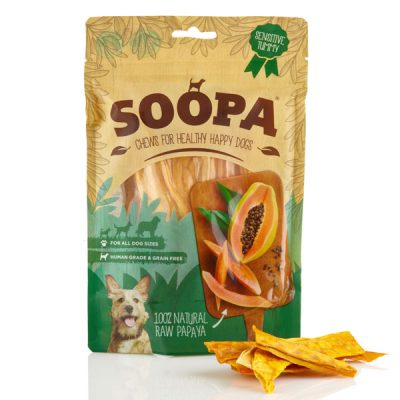 Soopa Papaya Chews vegane Kausnacks | veganpaws