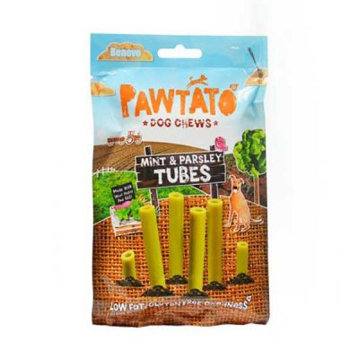 Benevo Pawtato Tubes Minze & Petersilie vegane Kaustangen | veganpaws