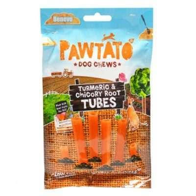 Benevo Pawtato Tubes Kurkuma & Zichorienwurzel veganer Kausnack | veganpaws