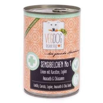 VEGDOG Sensibelchen No 1 veganes Nassfutter für Hunde | veganpaws