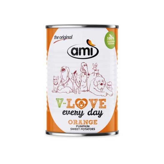 AMI V-LOVE ORANGE vegetarisches Nassfutter | veganpaws