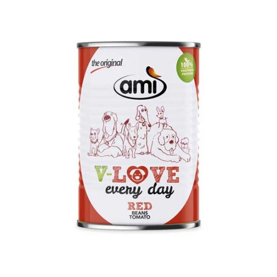 Ami DOG V-Love RED vegetarisches Nassfutter 400g | veganpaws