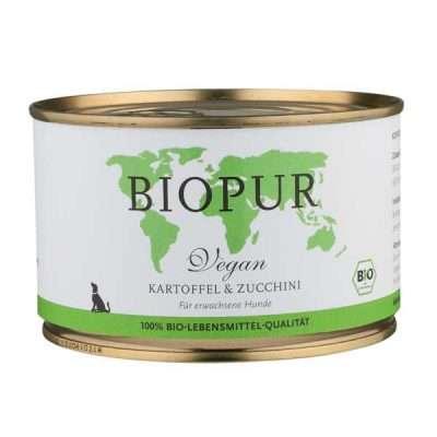 Biopur Kartoffel & Zucchini veganes Hundefutter 400g | veganpaws