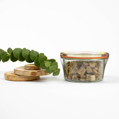 Hundsfutter Apfel-Nuss-Snacks vegane Hundekekse 75g für Mini-Hunde