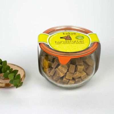 Hundsfutter Möhren-Snacks vegane Hundekekse 180g für größere Hunde