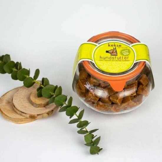 Hundsfutter Paprika-Snacks 220g Draufsicht