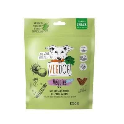 VEGDOG Veggies skincare 125g Detail vegane Leckerlis für Hunde